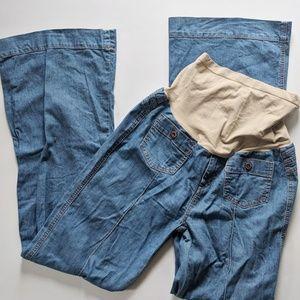 Buffalo David Button Maternity Blue Jeans